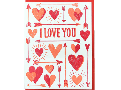 Love Hearts & Arrows Greeting Card