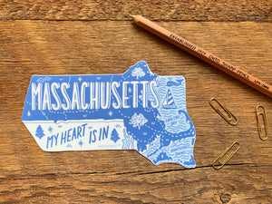 Massachusetts State Sticker