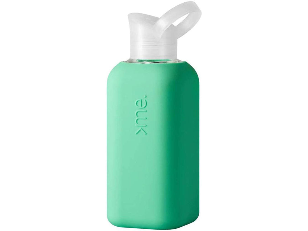 Glass Water Bottle with Silicone Sleeve, Mint