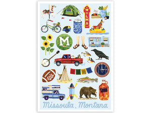 Missoula, Montana Art Print, 13x19in