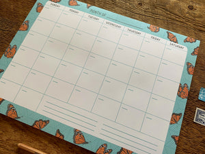 Monarchs Monthly Desk Planner