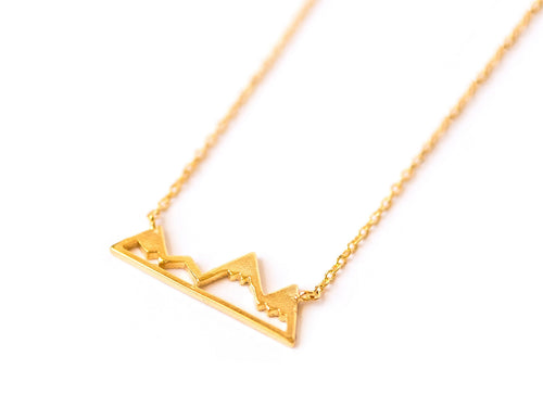 Mountain Necklace, Gold