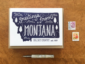 Greetings from Montana Card