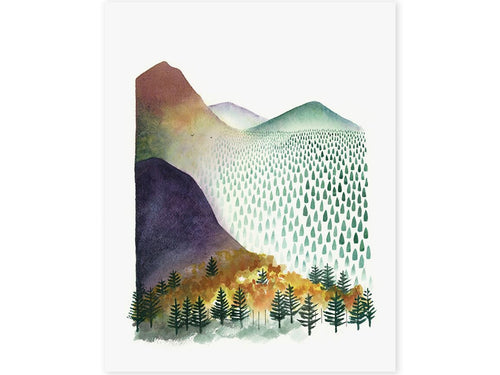 Mountain Morning Art Print, 8 x 10