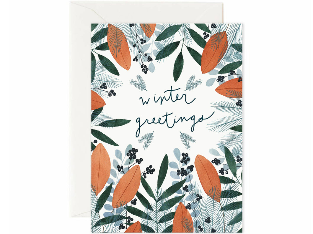 Winter Greetings, Single Card