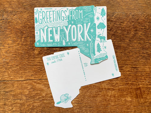 Greetings from New York Postcard