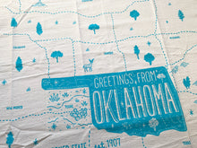 Greetings from Oklahoma State Tea Towel