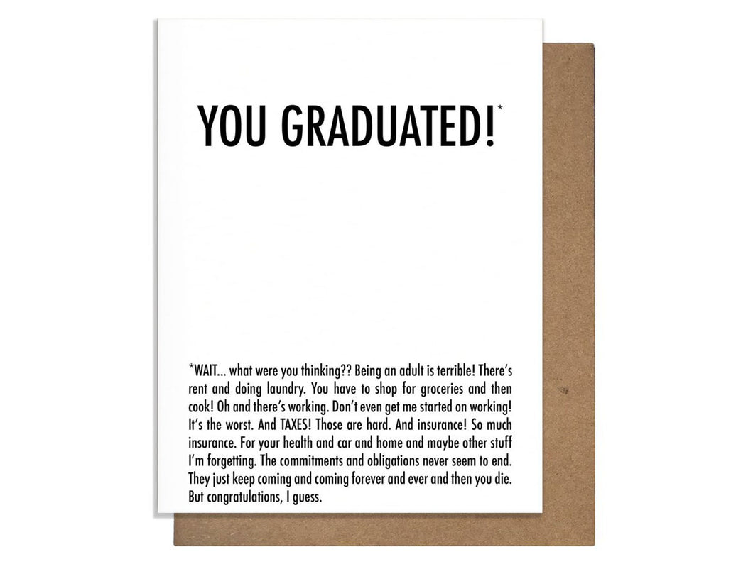 You Graduated Why, Single Card