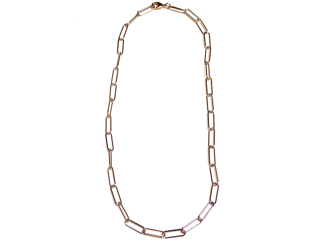 Paperclip Necklace, Gold