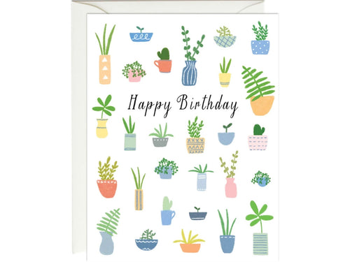 Birthday Plants, Single Card