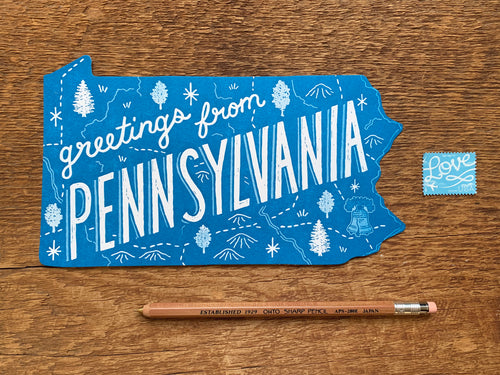 Greetings from Pennsylvania Postcard