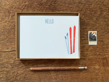 Hello Skis Flat Stationery