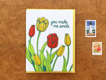 Smile Tulips Greeting Card