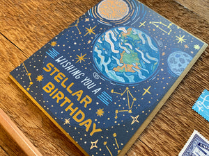 Stellar Birthday Greeting Card