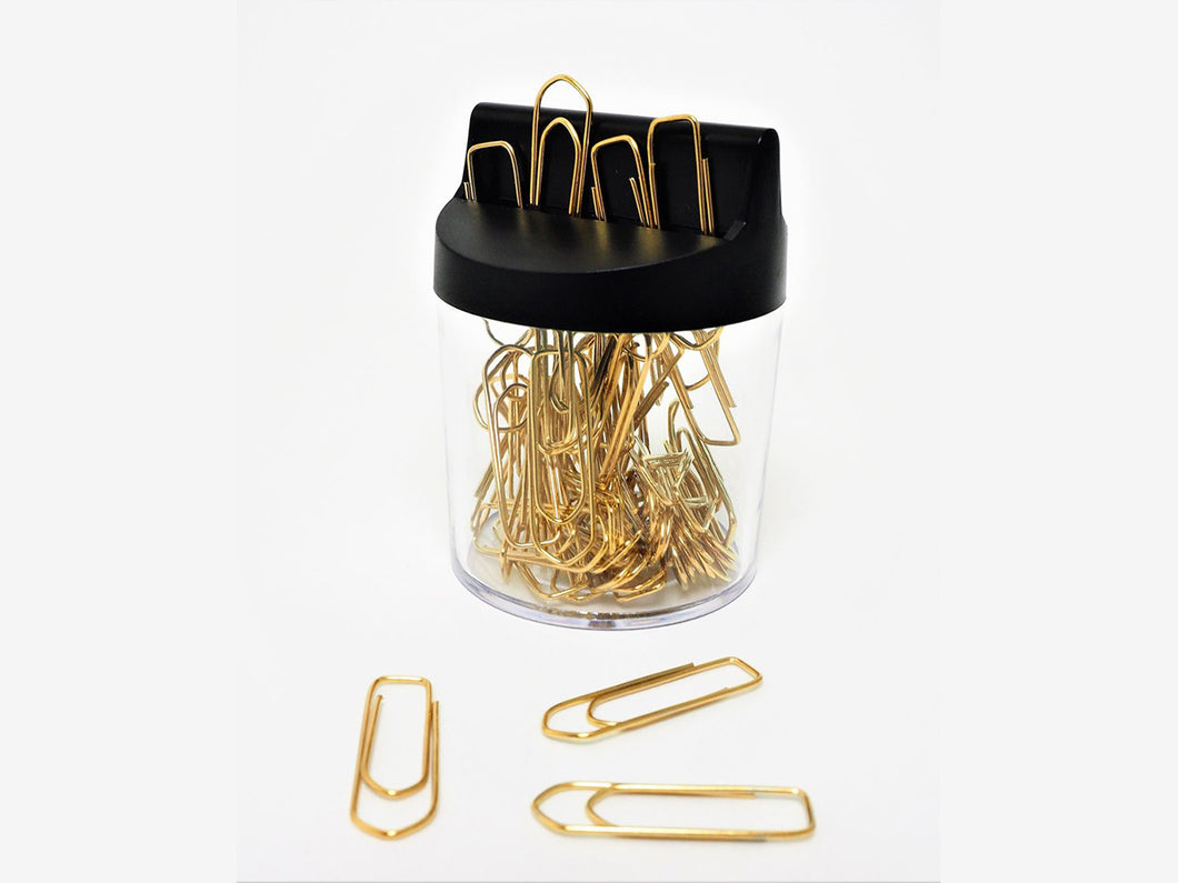 Gold Plated Clips With Magnetic Dispenser, 60 count