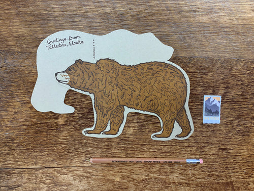 Talkeetna, Alaska Grizzly Bear Postcard