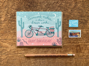 Tandem Bicycle Greeting Card