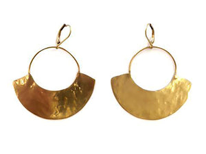Tozi Earrings- Brass
