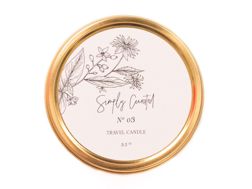 Travel Candle, Botanical No. 03