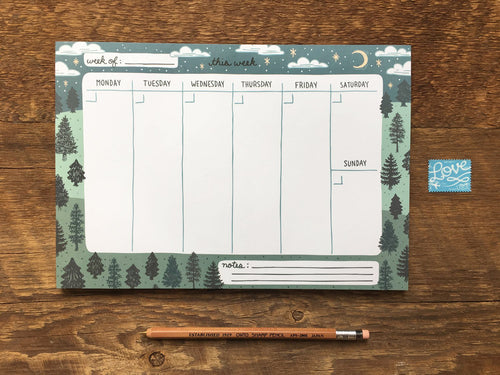 Trees Weekly Planner Notepad