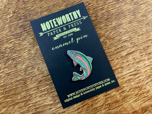 Trout Enamel Pin
