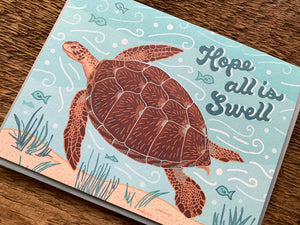 Hope All Is Swell Greeting Card