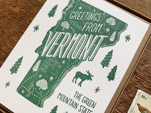 Greetings from Vermont Card