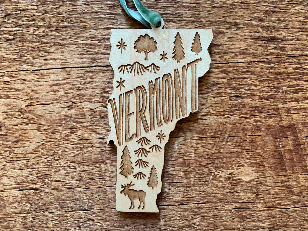 Vermont Wood Ornament
