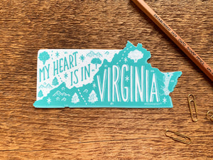 Virginia State Sticker