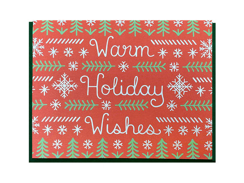 Warm Holiday Wishes Greeting Card