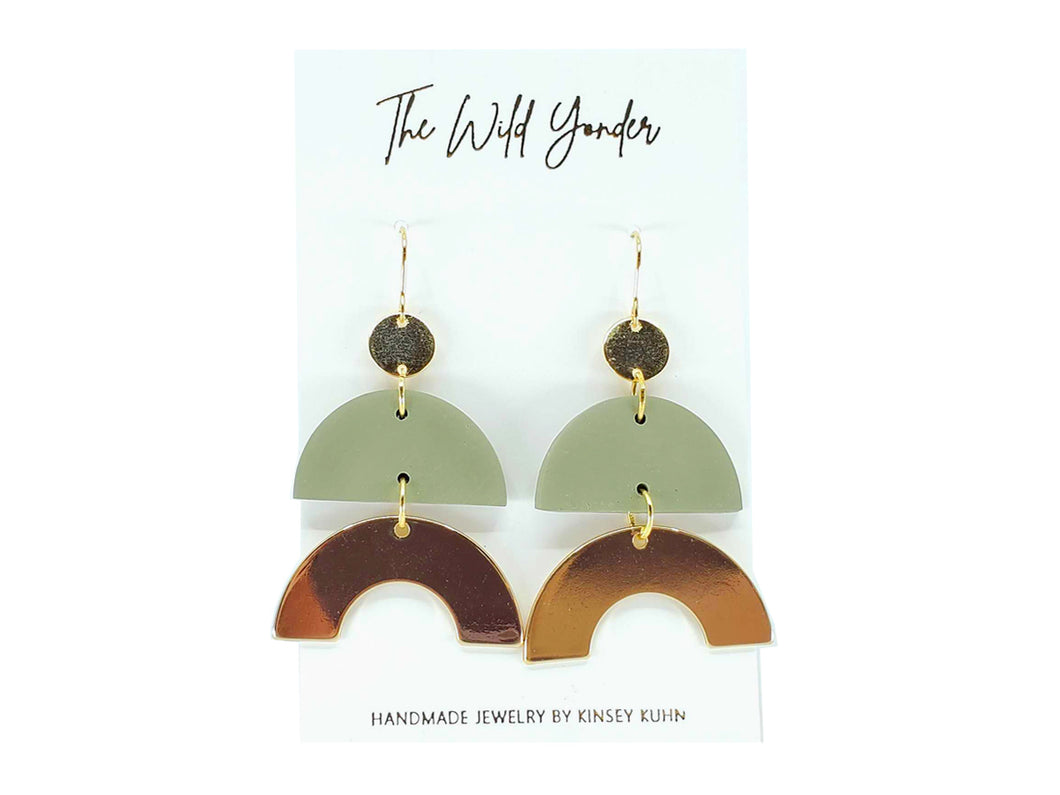 Kat Earrings - Sage Green