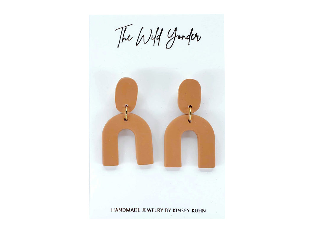 Small Arches Earrings - Terracotta