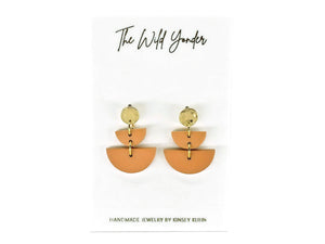 Half Circles Earrings - Terracotta