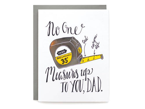 Measure Up Dad, Single Card