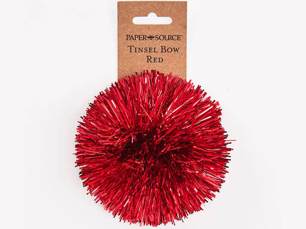 Tinsel Bow, Red