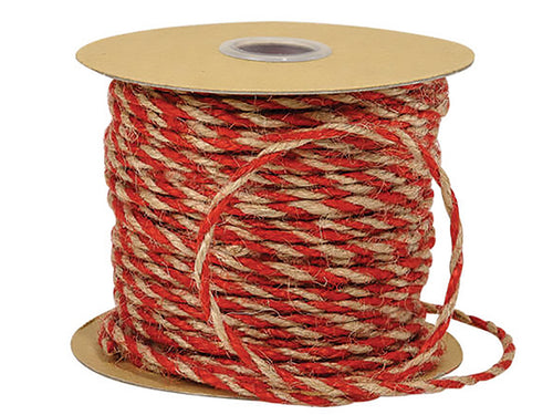 Red/Natural Jute Twine
