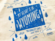 My Heart is in Wyoming Tote Bag