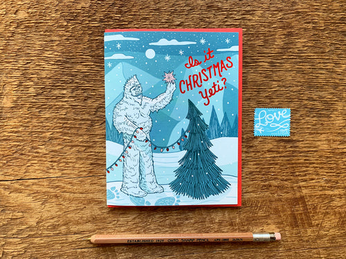 Christmas Yeti Greeting Card