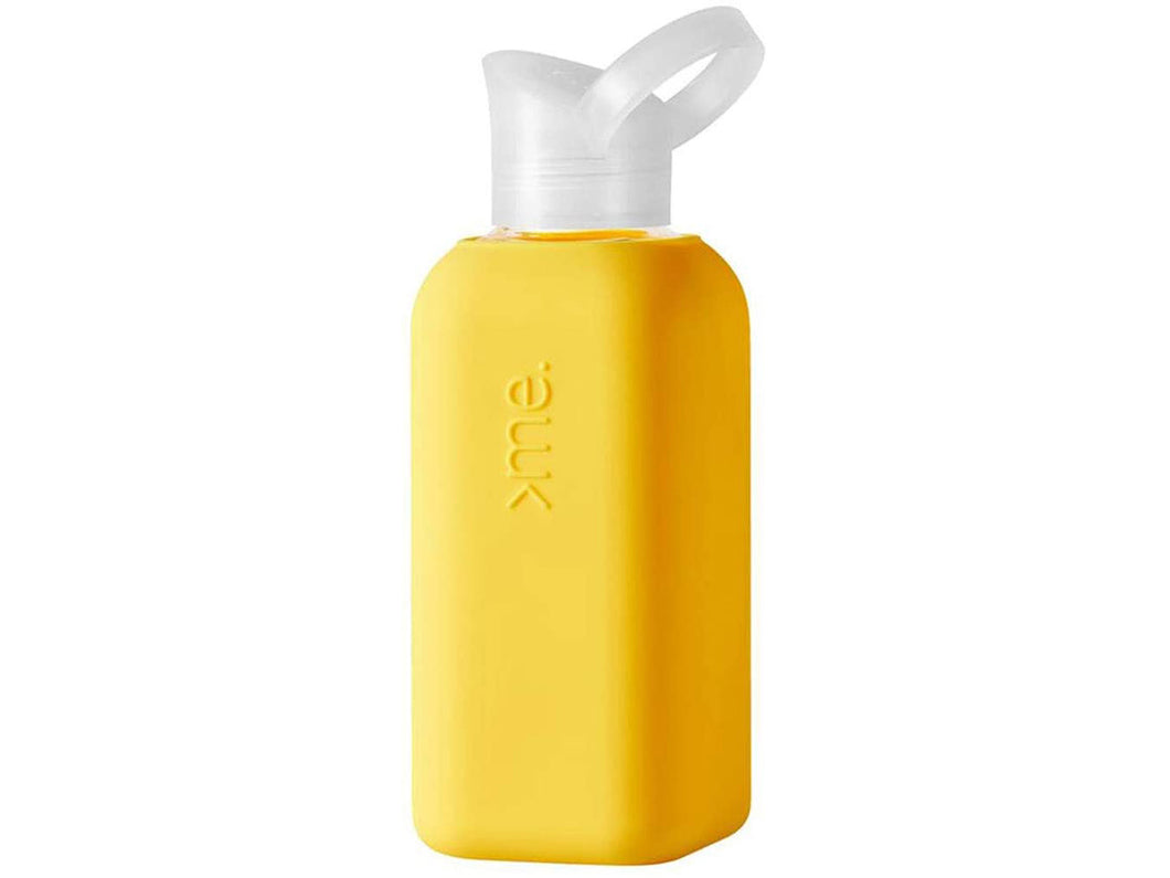 Glass Bottle with Silicone Sleeve, Yellow
