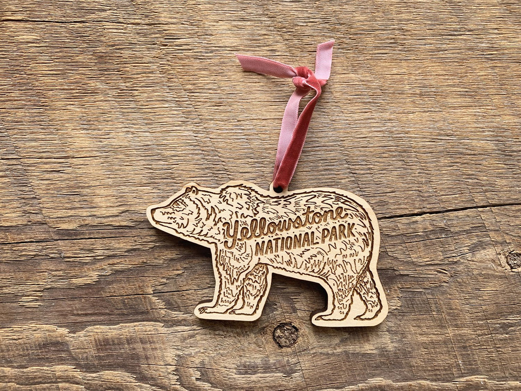 Yellowstone Grizzly Bear Ornament