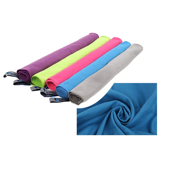 30x70cm Mini Microfiber Quick Dry Sports Towel with Carry Bag - 5 Colours