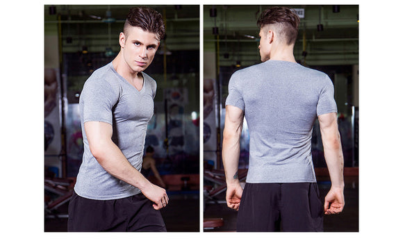 Quick Dry V-Neck Gym Sports Tshirt - 5 Colours