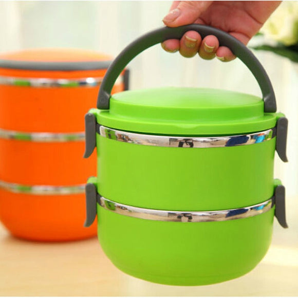 Stackable Two Layer Thermal Food Prep Container
