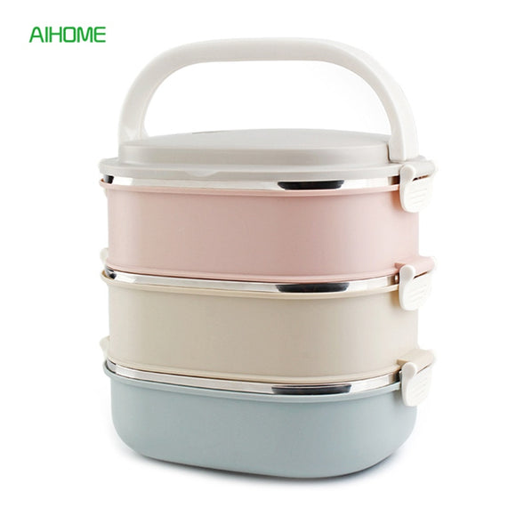 Stackable Three Layer Thermal Food Prep Container