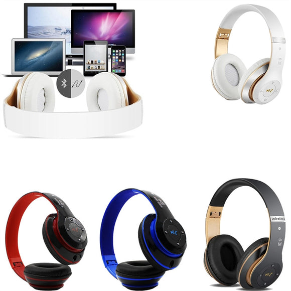 Wireless On Ear Bluetooth Foldable Stereo Bass Headphones - 5 Colours