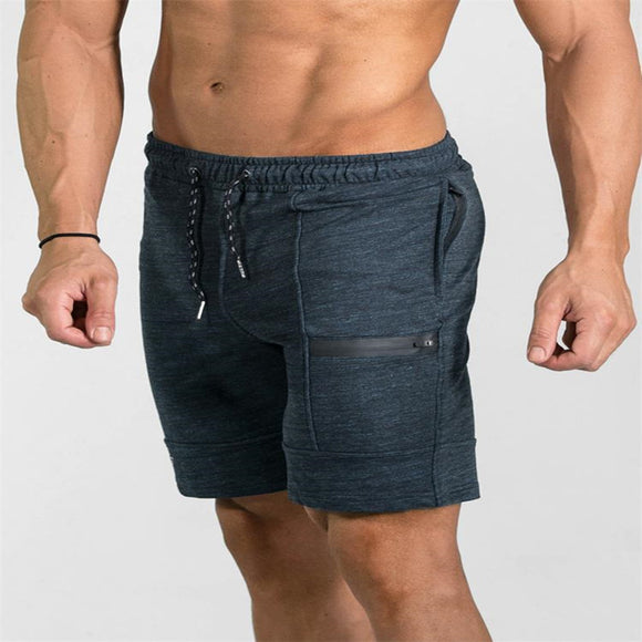 Fitted Knee Length Drawstring Gym Sports Shorts - 2 Colours
