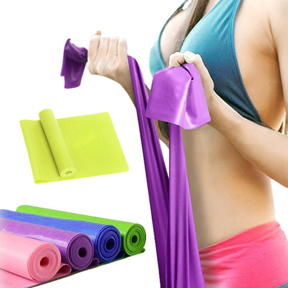 Latex Yoga Stretch Resistance Bands - 4 Colours