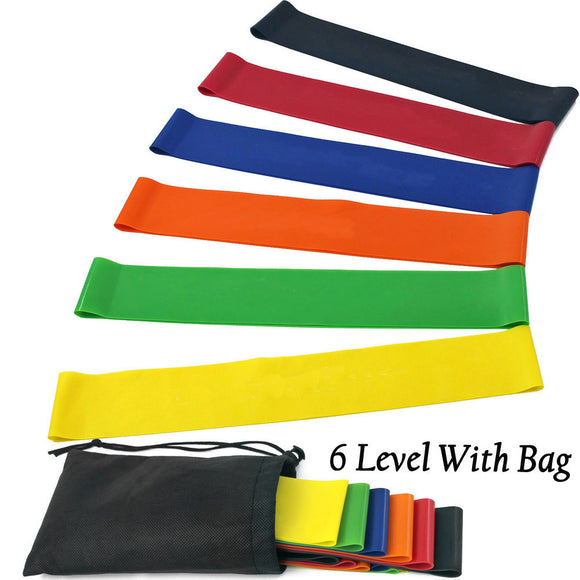 6 Level Resistance Bands with Carry Bag