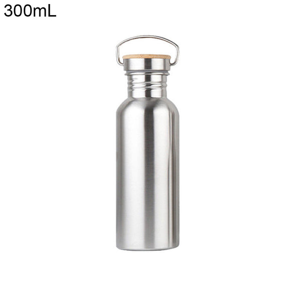 Compact 300ml Capacity Stainless Steel Sports Water Bottle