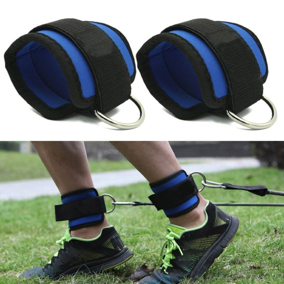 D-ring Ankle Straps for Resistance Bands and Cables